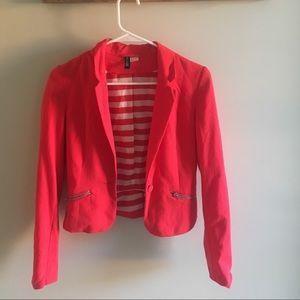 H&M women's blazer, pink, size 2